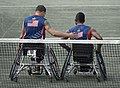 2016 Invictus Games, US Team play New Zealand in wheelchair tennis 160511-D-BB251-010.jpg