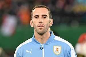 Diego Godín - Godín before a game with Uruguay in 2017