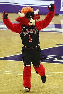 Benny the Bull Mascot of the National Basketball Association
