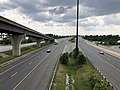 2019-07-04 15 32 40 View south along Interstate 95 and Interstate 495 (Capital Beltway) from the overpass for the ramp connecting Interstate 295 (Anacostia Freeway) to National Harbor in National Harbor, Prince George's County, Maryland.jpg