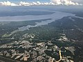 2019-07-22 15 52 14 View east across Stafford Courthouse towards the Aquia Creek and the Potomac River in eastern Stafford County, Virginia from an airplane heading for Washington Dulles International Airport.jpg