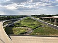 2019-07-24 17 57 43 View west along Interstate 695 (Baltimore Beltway) from the overpass for the ramp from northbound Interstate 95 to westbound Interstate 695 on the edge of Rosedale and Rossville in Baltimore County, Maryland.jpg