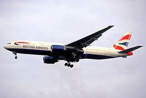 British Airways Flight 38 - The aircraft involved, five years before the crash.
