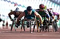 211000 - Athletics wheelchair racing 10km heat John Maclean action 2 - 3b - 2000 Sydney race photo.jpg