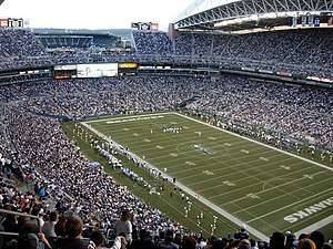 Qwest Field, home of the Seattle Seahawks. The...