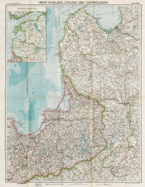 Karte Ostpreußen.File 25 Karte Von Westkurland Litauen Und Ostpreußen 1915 Png