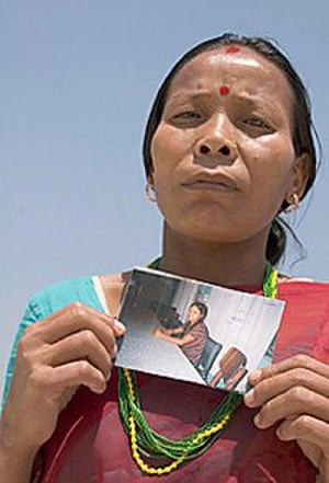 "Violence against women in India - This desperate mother traveled from her village in Nepal to Mumbai, India, hoping to find and rescue her teenage daughter who was trafficked into an Indian brothel. ""I will stay in Mumbai,"" said the mother, ""Until I find my daughter or die. I am not leaving here without her."""