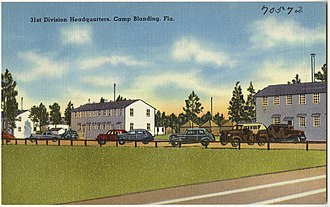 Camp Blanding - 31st division headquarters at Camp Blanding, likely after 1940.