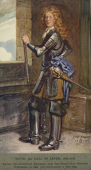 King's Own Scottish Borderers - David Melville, 3rd Earl of Leven, founder of the regiment