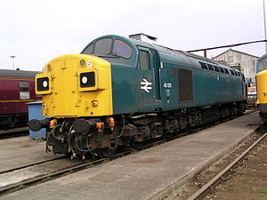British Rail Class 40 - 40 135 (97 406) at Crewe Works
