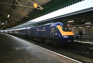 Swansea railway station - A First Great Western HST at Swansea station