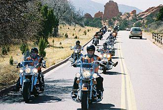 43rd Sustainment Brigade - The brigade conducts a motorcycle ride through Colorado Springs.