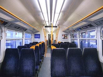British Rail Class 465 - The refreshed interior of a Standard Class saloon.