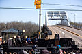 50th Anniversary of the Selma Marches - Former President George W Bush listens as President Obama delivers remarks at the foot of the Edmund Pettus Bridge.jpg