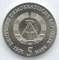 5 Mark DDR 1971 - 400. Geburtstag von Johannes Kepler - Wertseite.JPG