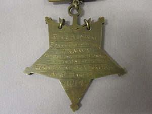 Frank Friday Fletcher - Image: 75 66 A Medal of Honor, USN, Type IV, Reverse