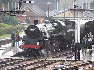 BR Standard Class 4 4-6-0 - Preserved Standard Class 4 4-6-0 No. 75027 on the Bluebell Railway