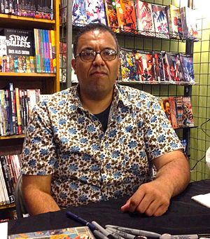 George Khoury (author) - Khoury at a signing for Comic Book Fever at JHU Comics in Manhattan