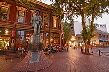 View of Gastown from Maple Tree Square