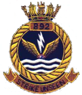 892 Naval Air Squadron - Badge of 892 NAS
