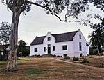 This predominantly Cape Dutch homestead was erected in 1814 by Colonel Jacob Glen Cuyler, landdrost of Uitenhage. Colonel Cuyler was closely associated with the settlement of the British Settlers of 1820.