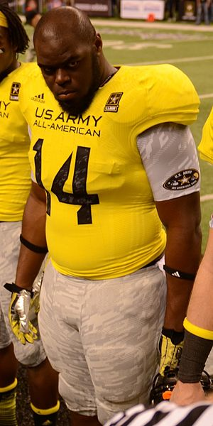 A'Shawn Robinson - Robinson at the U.S. Army All-American Bowl, 2013