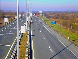 A2 (Croatia) - A2 near Zaprešić mainline toll plaza