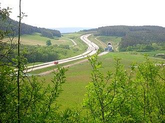 Bundesautobahn 71 - Image: A71 Wipfratal