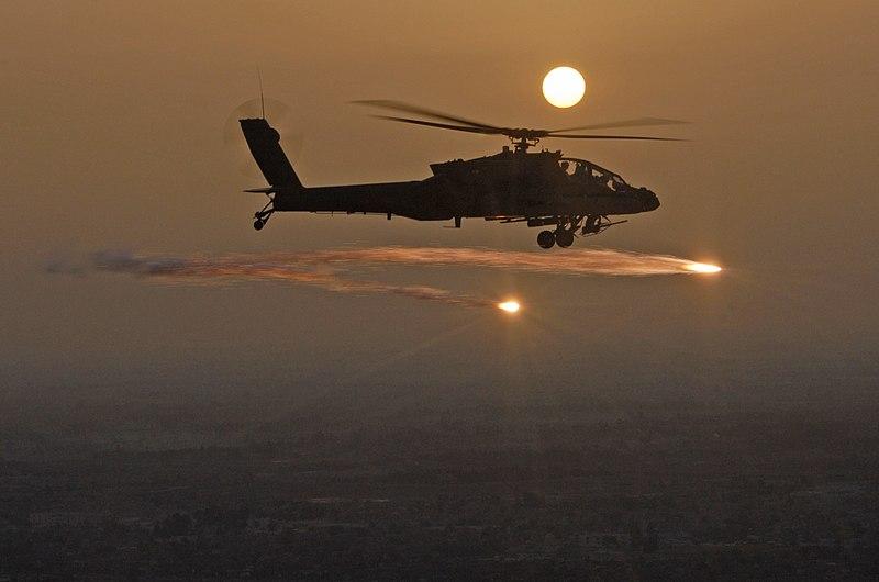File:AH-64 firing flare.jpg