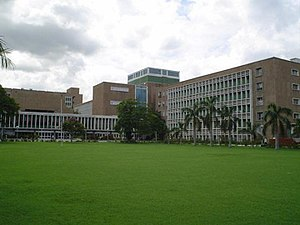 Central lawn, with teaching block in the background