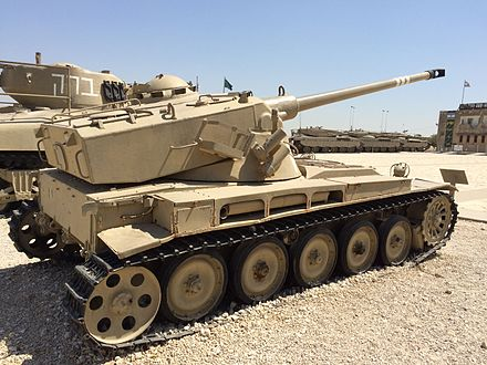 Israeli AMX-13, shown here from the rear and side AMX-13 at Latrun4.JPG