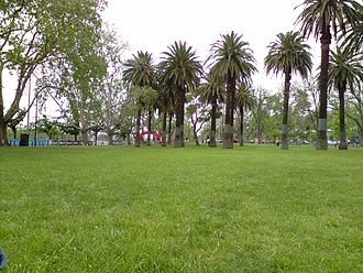 """Alexandra Gardens, Melbourne - Finish area of the 2009 """"Around The Bay In A Day"""" event, in Alexandra Gardens, Melbourne."""