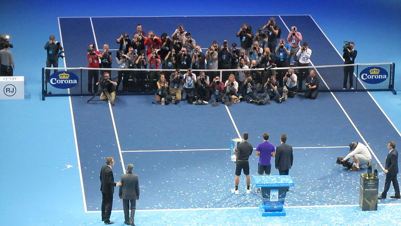 File:ATP World Tour Finals at The O2 singles ceremony (8325910340).jpg