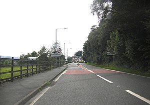 Kirkconnel - Image: A 76 entering Kirkconnel