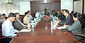 A Maldivian delegation led by its Minister of Transport and Communication, Dr. Ahmed Shamheed meeting the Union Minister for Civil Aviation, Shri Ajit Singh, to discuss the cooperation in civil aviation sector, in New Delhi.jpg