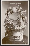 A basket with cats and flowers, 1910 (8286860388).jpg