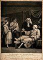 A doctor taking the pulse of a gouty bachelor surrounded by Wellcome V0010995.jpg