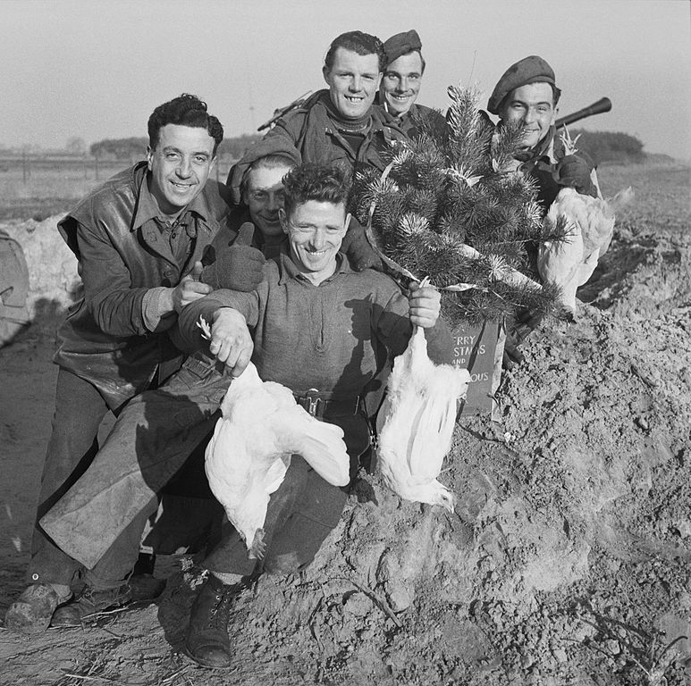 army chickens filea group of cheerful men from the royal artillery display