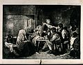 A group of children play a game with potatoes and a rag hang Wellcome V0039362.jpg