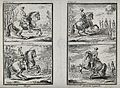A horseman showing four different dressage exercises with hi Wellcome V0021796.jpg