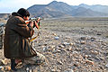 A member of 2nd Coy, Afghan Border Police, test fires his rifle, outside of an ABP compound, in the Nazyan district, Nangarhar province, Afghanistan, March 10, 2012 120310-A-LP603-107.jpg