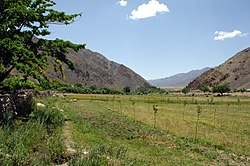 A view of a valley in the Panjshir Province of Afghanistan in 2009