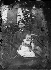 A woman and a child NLW3364939.jpg