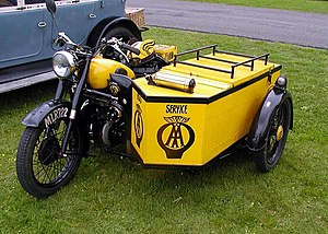 AA vintage sidecar (date unknown) at the Great...