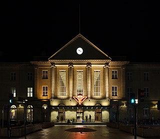 railway station in Aarhus Municipality, Denmark