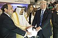 Abdel Fattah el-Sisi, King Salman of Saudi Arabia, Melania Trump, and Donald Trump, May 2017.jpg
