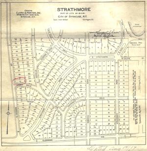 Strathmore, Syracuse - Original Strathmore Neighborhood Layout of Lots