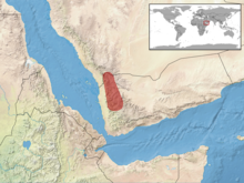 Acanthocercus yemensis distribution.png