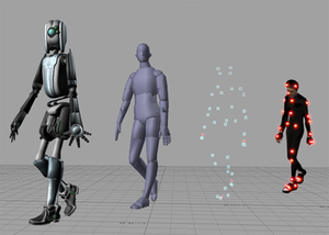 "Computer animation - An example of computer animation which is produced in the ""motion capture"" technique"