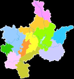 Chenzhou - Image: Administrative Division Chenzhou